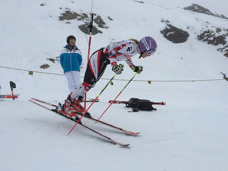Race training in the Kühtai ski school